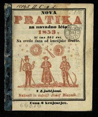 Nova pratika; Za navadno leto 1853