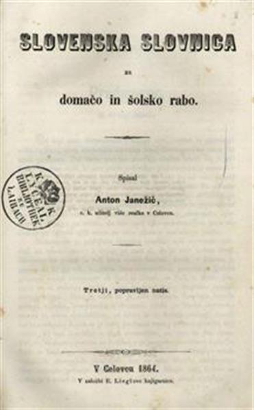 Slovenska slovnica za domačo in šolsko rabo