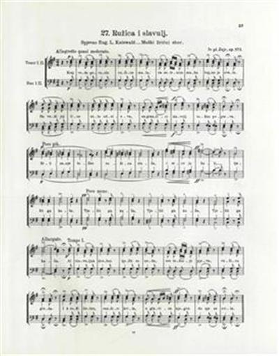 Ružica i slavuj; muški lirični sbor, op. 573