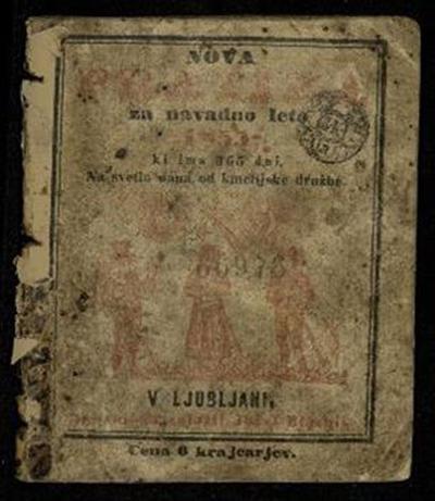 Nova pratika; Za navadno leto 1855