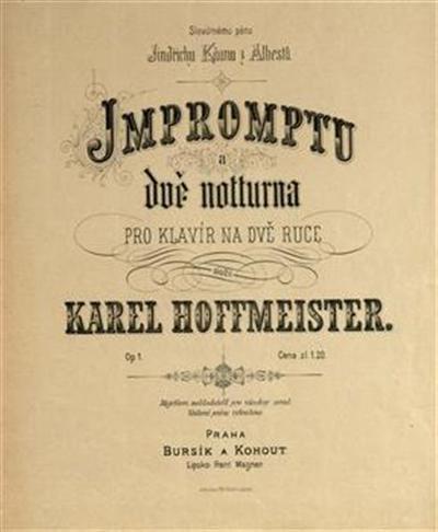 Impromptu a due notturna, op. 1; pro klavír na dve ruce