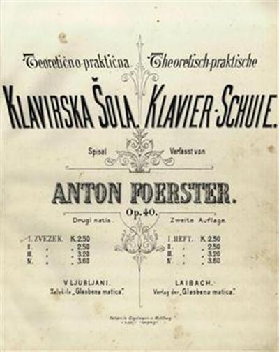 Teoretično-praktična klavirska šola; Op. 40; Theoretisch-praktische Klavier-Schule