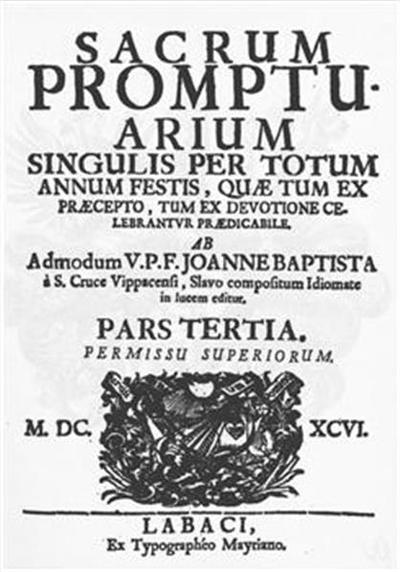 Sacrum promptuarium singulis per totum annum festis, quae tum ex praecepto, tum ex devotione celebrantur praedicabile