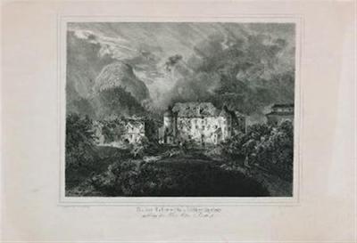 Ruine Osterwitz im Cillier Kreise; gehörig dem Herrn Anton Perko