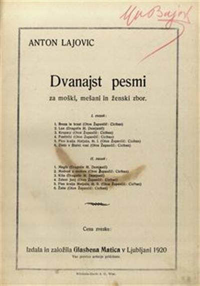 Dvanajst pesmi za moški, mešani in ženski zbor