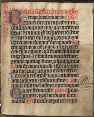 Antiphonarium dierum hebdomadae; Hymni per totum annum; Psalter s himnarjem iz Žičkega samostana