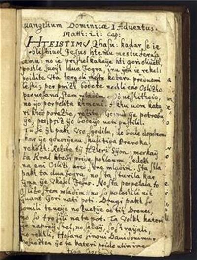 Slovenski evangelistarij s Stapletonovimi latinskimi perikopami