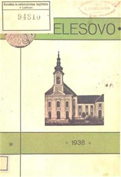 Velesovo; zgodovinski in cerkveni opis
