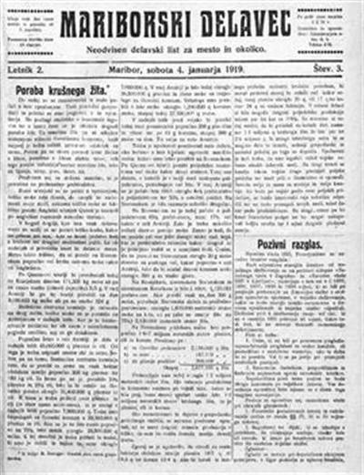 Mariborski delavec; neodvisen delavski list za mesto in okolico