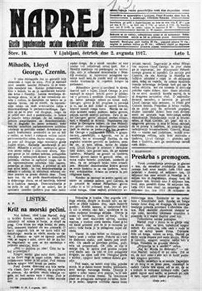 Naprej; Glasilo jugoslovanske socialno demokratične stranke