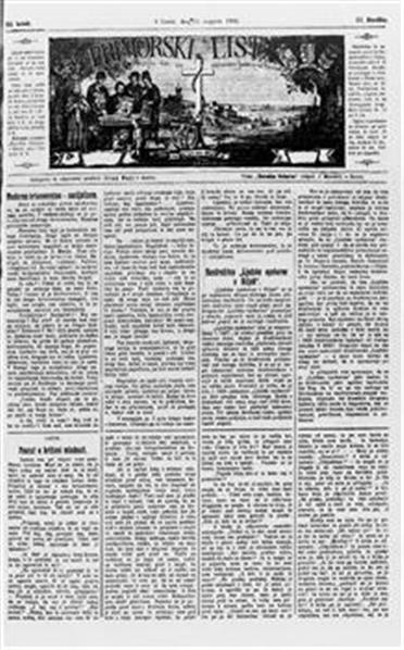 Primorski list; Poučljiv list za slovensko ljudstvo na Primorskem