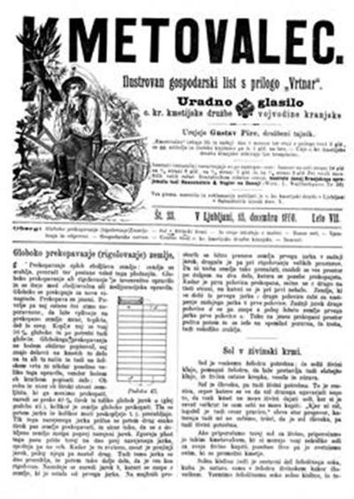 Kmetovalec: gospodarski list s podobami