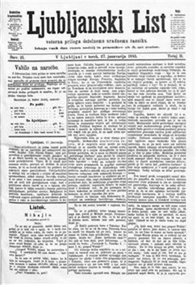 Ljubljanski list; večerna priloga deželnemu uradnemu časniku