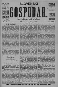 Slovenski gospodar: podučiven list za slovensko ljudstvo
