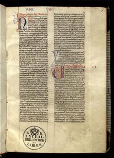 Prophetae maiores et minores cum prologis s. Hieronymi (1a–92a). Iob cum prologo s. Hieronymi (92b–103a)