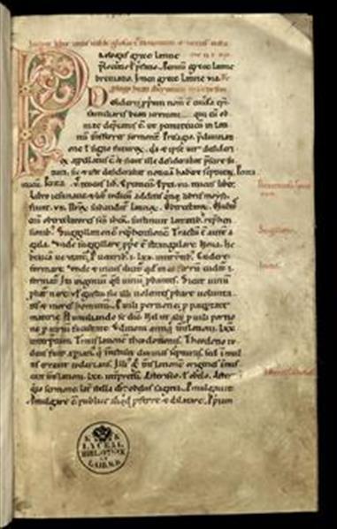 BIBLIA; Glossarium in novum et vetus testamentum cum prologo beati Hyeronimi in Genesim (1a–177b)