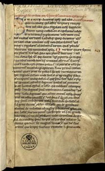 Expositio super VII canonicas epistolas (2b–84b); Expositio allegorica in Esdram prophetam (84b–172b). Expositio super Tobiam (172a–180a)