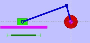 Schubkurbel (MC-UG) - Bewegungsaufgabe Synchronfahrt