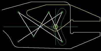 Zange mit Flachgriff - Schematische Darstellung