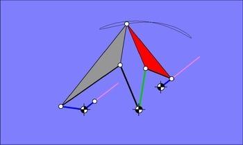 Parallelführungsgetriebe auf Basis des Satz von Roberts