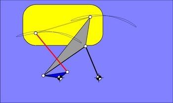 6-gliedriges Parallelführungsgetriebe nach Hain