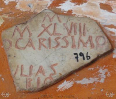 Inscription from Rome, Coem. Cyriacae ad s.Laurentium - ICVR VII, 17477