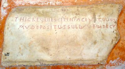 Inscription from Rome, Coem. Cyriacae ad s.Laurentium - ICVR VII, 17850