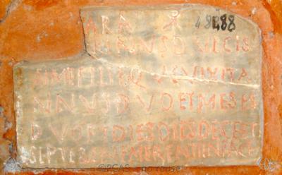 Inscription from Rome, Coem. Cyriacae ad s.Laurentium - ICVR VII, 17858
