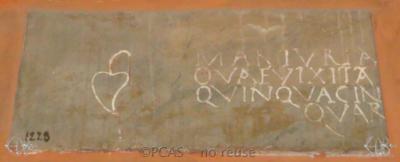 Inscription from Rome, Coem. Cyriacae ad s.Laurentium - ICVR VII, 17930