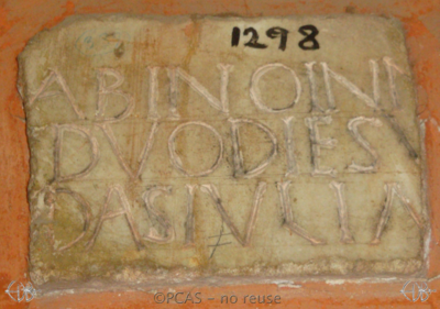 Inscription from Rome, Coem. Cyriacae ad s.Laurentium - ICVR VII, 18018