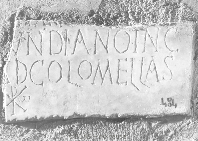 Inscription from Rome, Coem. Cyriacae ad s.Laurentium - ICVR VII, 18030
