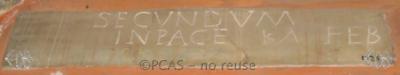 Inscription from Rome, Coem. Cyriacae ad s.Laurentium - ICVR VII, 18032