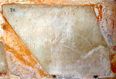 Inscription from Rome, Coem. Cyriacae ad s.Laurentium - ICVR VII, 18111