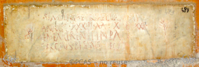 Inscription from Rome, Coem. s.Agnetis - ICVR VIII, 21290