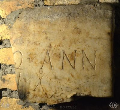 Inscription from Rome, Coem. s.Agnetis - ICVR VIII, 21484.c