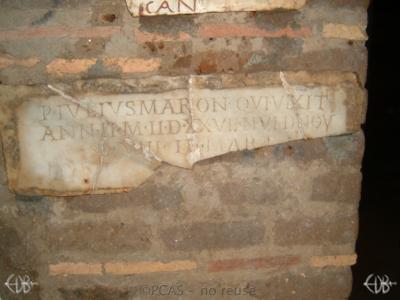 Inscription from Rome, Coem. Priscillae - ICVR IX, 25303