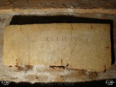 Inscription from Rome, Coem. Domitillae pars inferior - ICVR III, 6700
