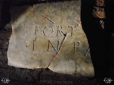 Inscription from Rome, Coem. Domitillae pars superior - ICVR III, 7609.b