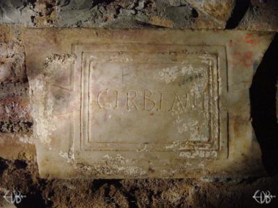 Inscription from Rome, Coem. Domitillae pars superior - ICVR III, 7627