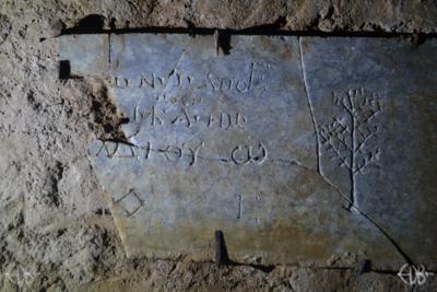 Inscription from Rome, Coem. Domitillae pars superior - ICVR III, 8058