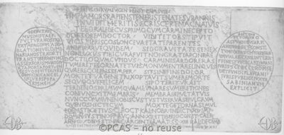 Inscription from Rome, Basilica S.Petri apostoli - ICVR II, 4187