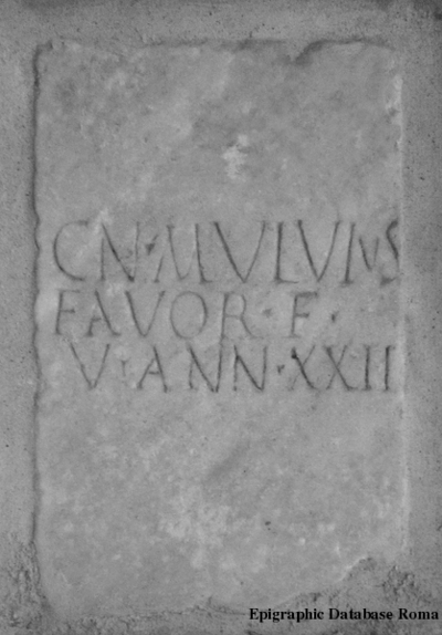 Inscription from Tarquinii