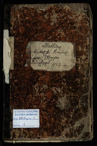 Stakliškių RKB gimimo metrikų knyga. 1872--1877 m.