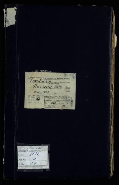 Kuršėnų RKB gimimo metrikų knyga. 1897--1903 m.