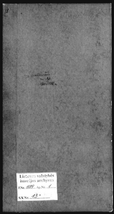 Lauksodžio RKB mirties metrikų knyga. 1920--1931 m.