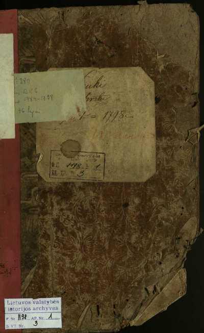 Kriukų RKB gimimo metrikų knyga. 1784--1798 m.