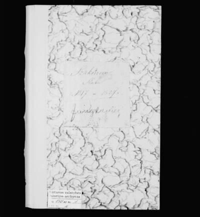Šakynos RKB santuokos metrikų knyga. 1817--1827 m.