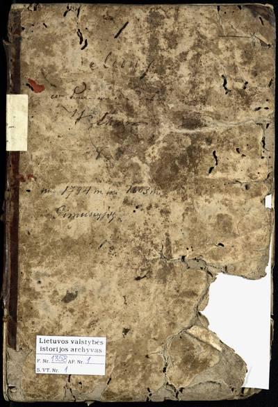 Leliūnų RKB gimimo metrikų knyga. 1794--1803 m.