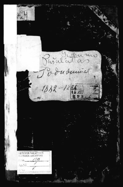 Pušaloto RKB gimimo metrikų knyga. 1882--1888 m.