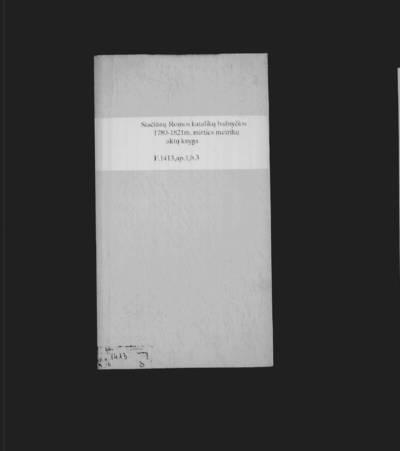 Stačiūnų RKB mirties metrikų knyga. 1780--1821 m.